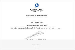 concord pacific授权证书